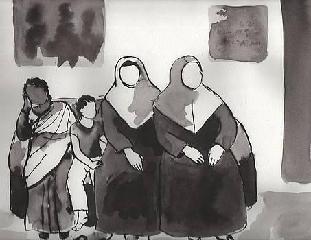 Waiting at a clinic by Manjula Prabhakaran Dubey