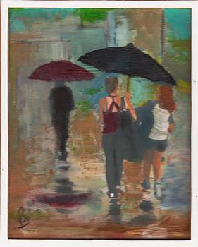 Walking in the rain by Reza Naqvi