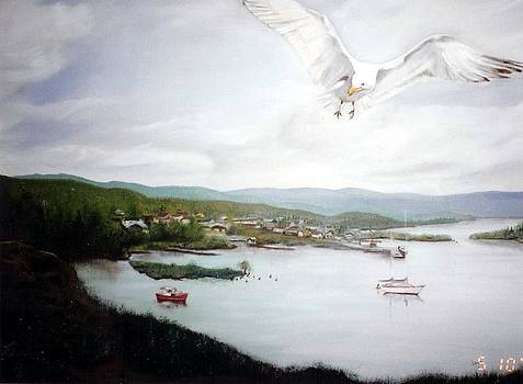 Watching Over  Rossport by Joyce Reid