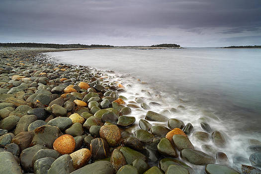 Ancient Stones and Serene Sea by Scott Leslie