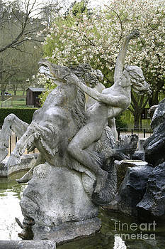 Water Nymph and Hippocampus  by Heather Lennox