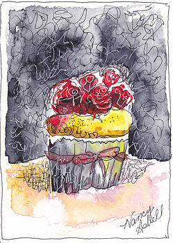 Watercolor Cupcake 2 by Michele Hollister - for Nancy Asbell