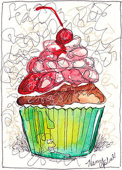 Watercolor Cupcake 5 by Michele Hollister - for Nancy Asbell