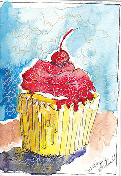 watercolor Cupcake 6 by Michele Hollister - for Nancy Asbell