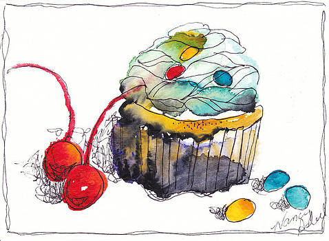 Watercolor Cupcake 8 by Michele Hollister - for Nancy Asbell