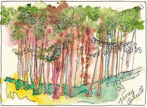 Watercolor Landscape by Michele Hollister - for Nancy Asbell