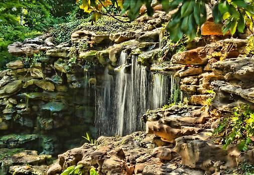 Lynnette Johns - Waterfall - Japanese Gardens HDR