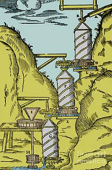 Science Source - Watermill Reversed Archimedean Screw