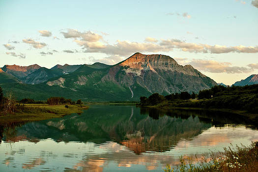 Waterton Sunset Alberta Landscape photograph Larry Darnell panorama by Larry Darnell