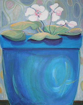 We Are All in Our Vases  blue by Robin Zuege
