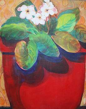 We Are all in Our Vases  red by Robin Zuege