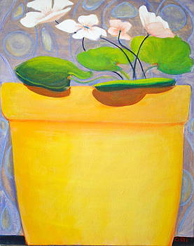 We Are All in Our Vases  yellow by Robin Zuege