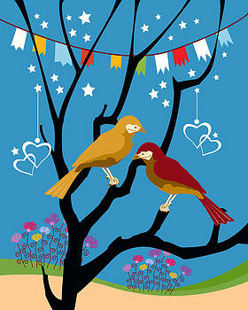 We are like two bird  by Baker  Alhashki