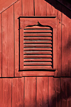 David Letts - Weathered Red Barn Shutter of New Jersey
