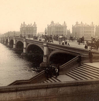 Westminster Bridge - London - c 1887 by International  Images