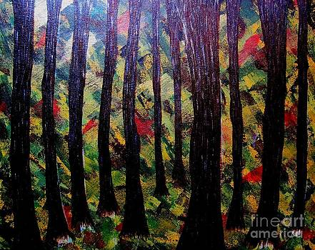Whimsical Painting-whimsical Forest by Priyanka Rastogi