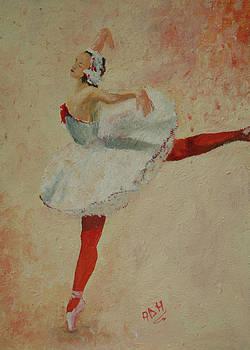 White ballerina by Nicu Alina