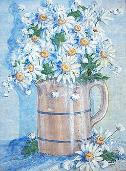 White Daisies by Phyllis Mae Richardson Fisher