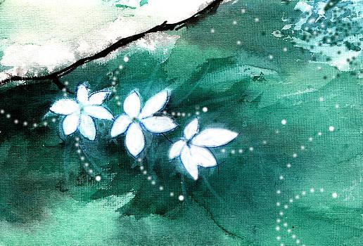 White Flowers by Anil Nene