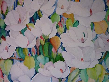 White Magnolias by Margaret Pirrouette