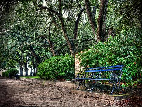 White Point Gardens Bench by Jenny Ellen Photography