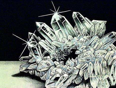 White Quartz Crystal by Kimberlee  Ketterman Edgar