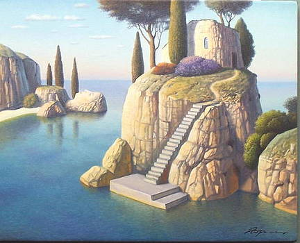 White Rock Island by Evgeni Gordiets