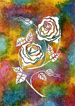 White Roses by Lisa Frances Judd