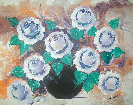 White Roses by Raymond Doward