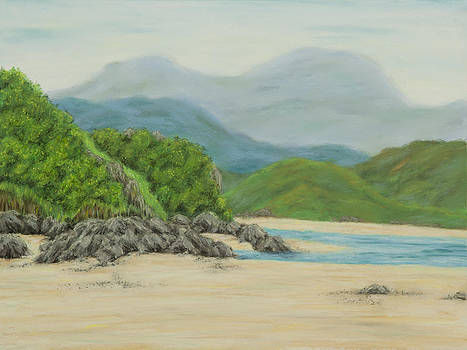White sands bay - Portmeirion by Rebecca Prough