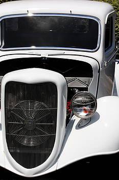 White Vintage Car by Julian Bralley