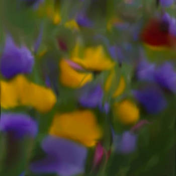 Wild Flowers Abstract Study 1 by Susan  Solak