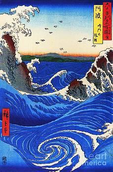 Ando Hiroshige - Wild Waves on Rocks