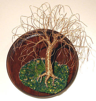 Willow on Round Base - Wire Tree by Sal Villano