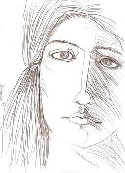 Wind In The Hairs by Maria Degtyareva