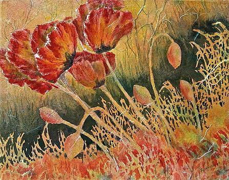 Windblown Poppies by Carolyn Rosenberger