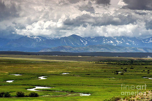 Winding River Valley by Rex E Ater