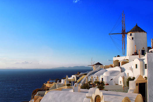 Windmills of Oia Greece by Jeff Rose