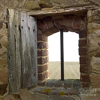 BERNARD JAUBERT - Window of a derelict house overlooking field