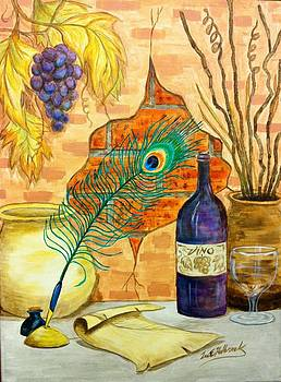 Wine and Feather by Lee Halbrook