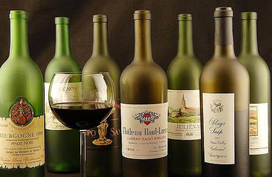 Wine and labels by David Campione