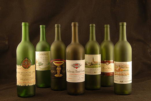 Wine labels French by David Campione