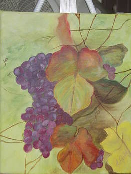 Wine Leaves by Arlene Gibbs