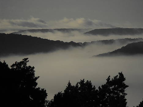 Winter Fog Mountains by Rebecca Cearley