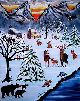 Winter Gathering by Adele Moscaritolo
