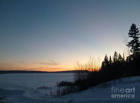 Sue Wild Rose - Winter Sunset - Whitefish Lake