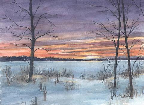 Winter Sunset by Kerry Kupferschmidt