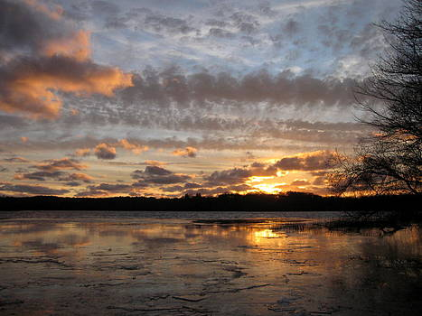 Anne Babineau - winter sunset sky