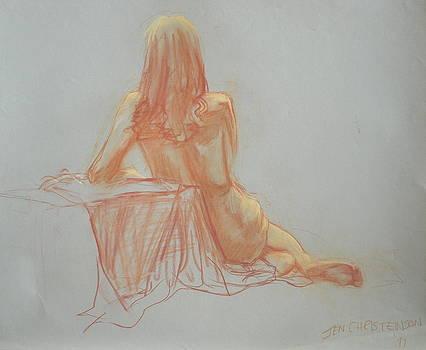 Woman Sitting in Repose by Jennifer Christenson