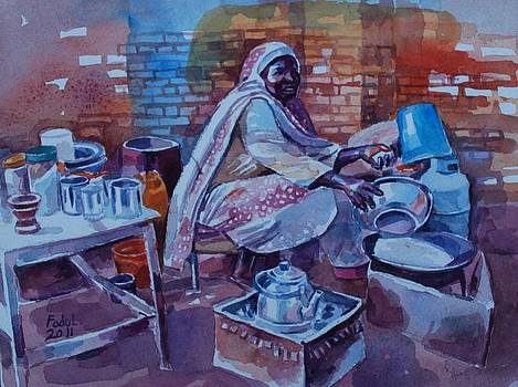 Woman Tea by Mohamed Fadul